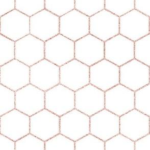 Rose gold hexagon, honeycomb, kitchen, bathroom tiles