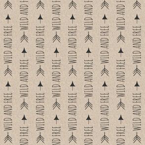 Wild and Free Arrows on Tan Linen