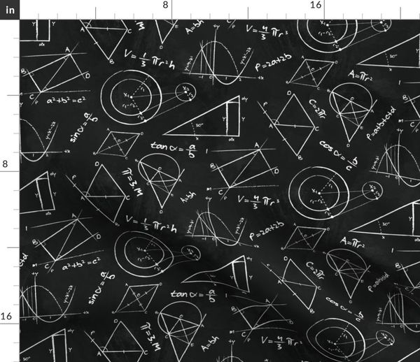chalkboard calculations math geometry spoonflower fabric by the yard chalkboard calculations math geometry chalkboard equations physics stem fabric