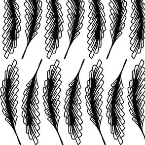 AFRICAN WHEAT BLACK AND WHITE