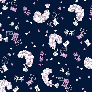Love Letter to the Past (Orchid and Navy)