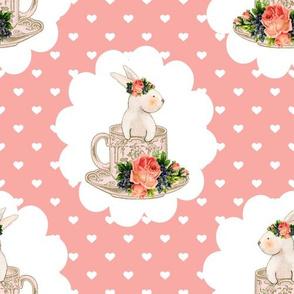 Easter Bunnies Teacups and Bunnies Hearts