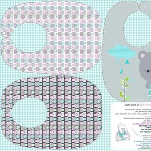 Teddy Bear baby bibs sewing pattern template