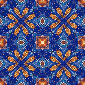 Persian Blue and Orange Stars