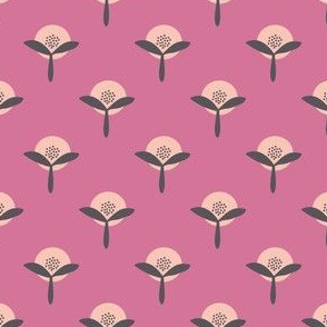 Retro Flower Summer Garden pink