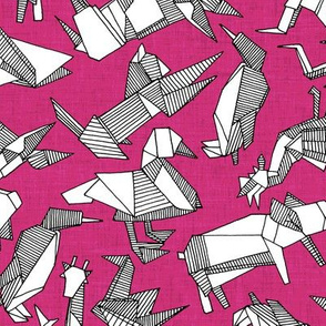 origami animal ditsy pink