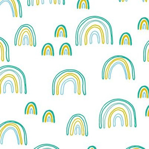 Sweet green dreams rainbow sky love abstract trendy rainbows boys