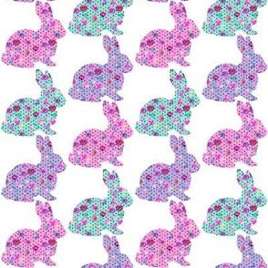 "Mulit Bunny Polka Dot Toss 2"""