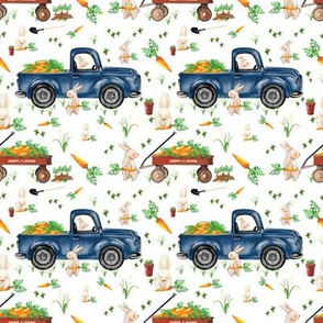 Bunny Trucks and Wagons 4x4 Easter Bunny Old Blue Trucks Carrots