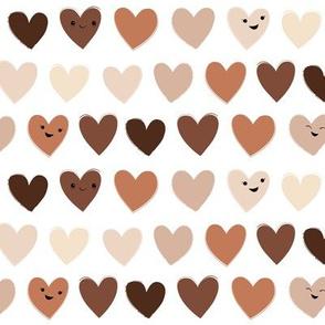 Happy Hearts in Skin Tones © Jennifer Garrett