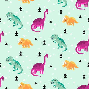 Floral-Dinosaurs
