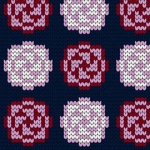 07180427 : knit 12 : navy orchid burgundy