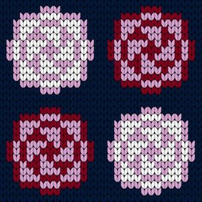 07180427 : knitted blooms