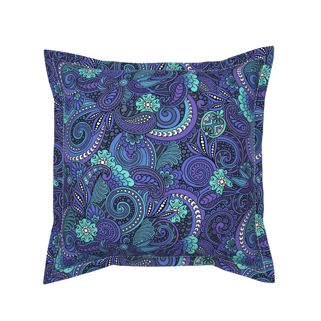 Serama Throw Pillow featuring Two Birds Hiding by lakecoloring
