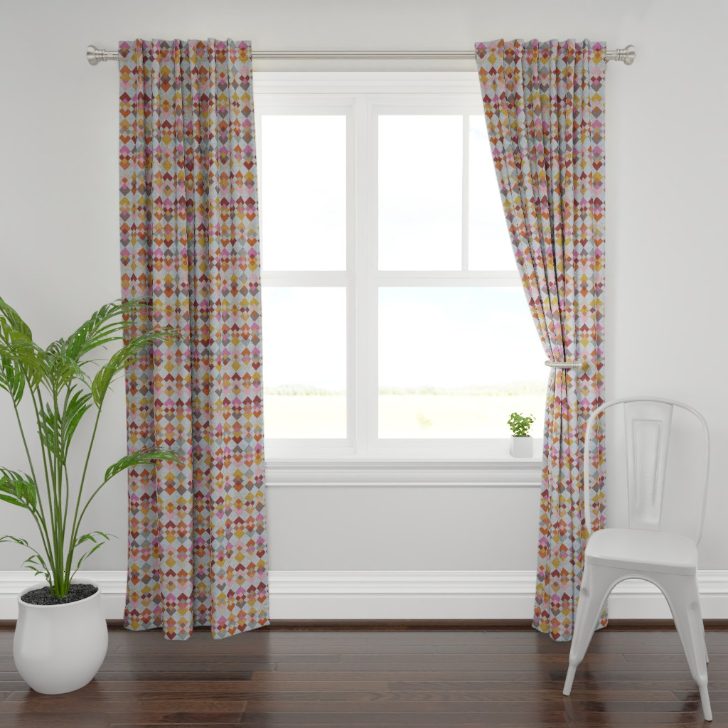 Plymouth Curtain Panel featuring Inspiration - Kilim by owlandchickadee