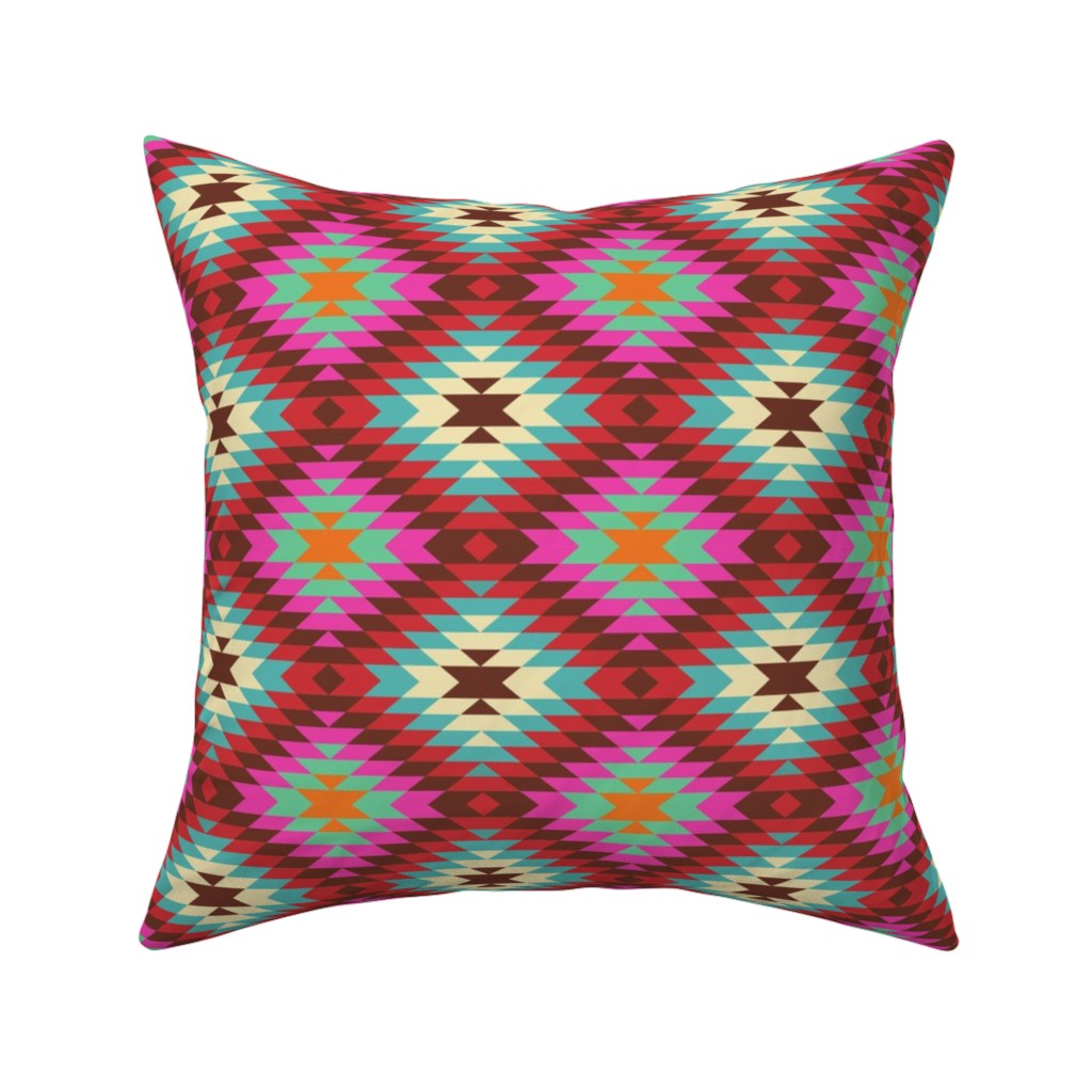 Catalan Throw Pillow featuring Turkish Kilim Large Pattern by artsytoocreations