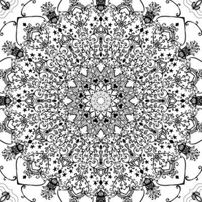 Mandala Project 606 | Black and White Mandala