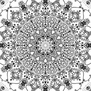 Mandala Black and White Mandala
