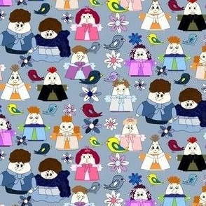 Hawk Family Group Fabric 6