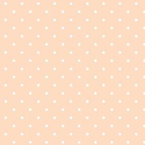 Polka dot on peach