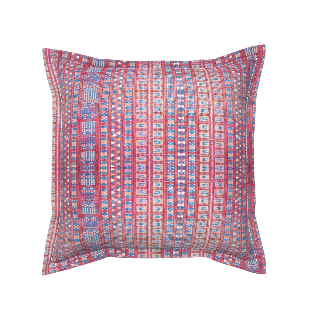 Serama Throw Pillow featuring kilim by marigoldpink