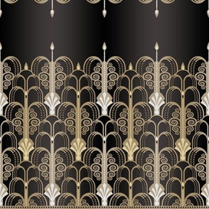 Art Deco black/gold