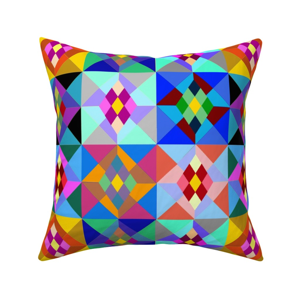 Catalan Throw Pillow featuring Kilim by ruthjohanna
