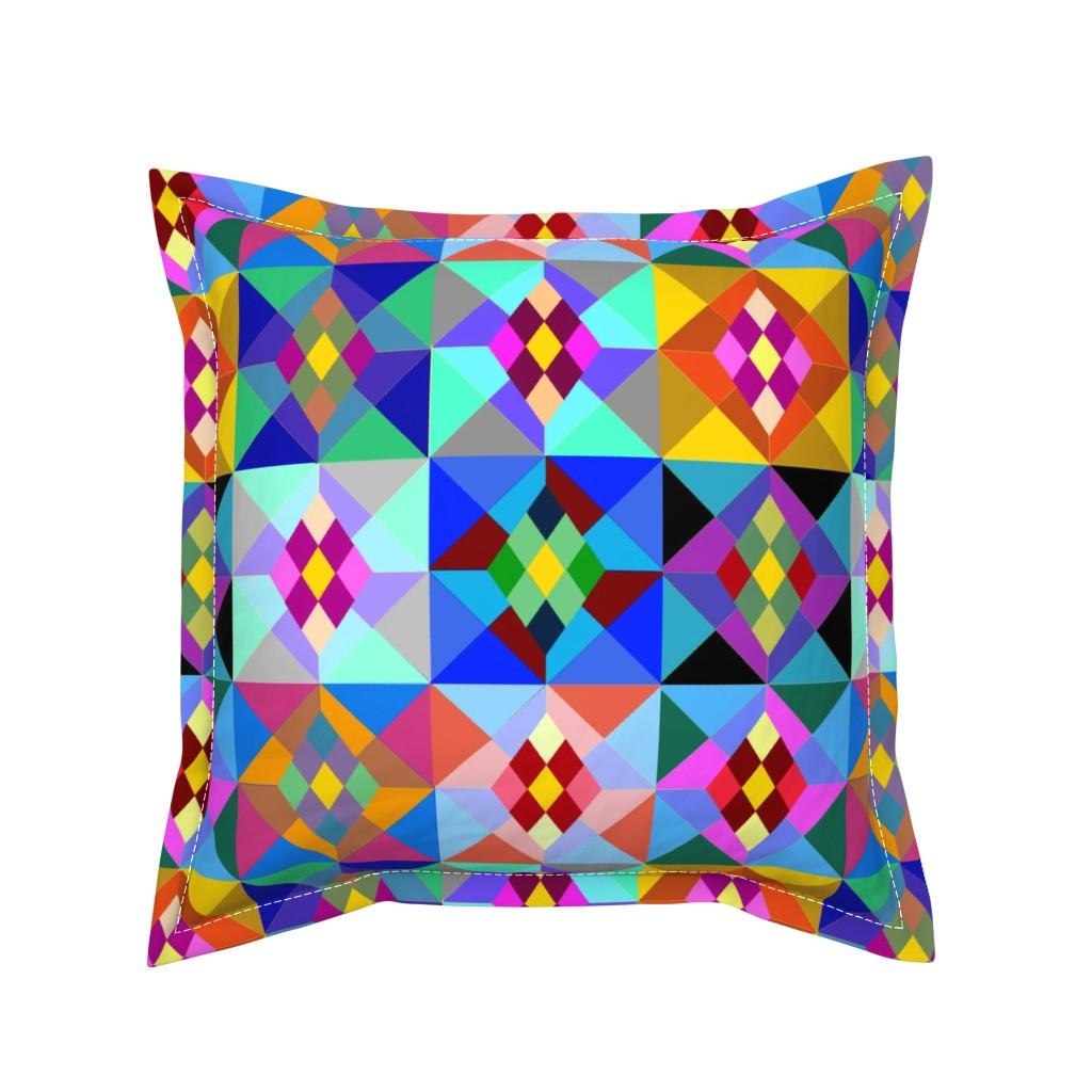 Serama Throw Pillow featuring Kilim by ruthjohanna