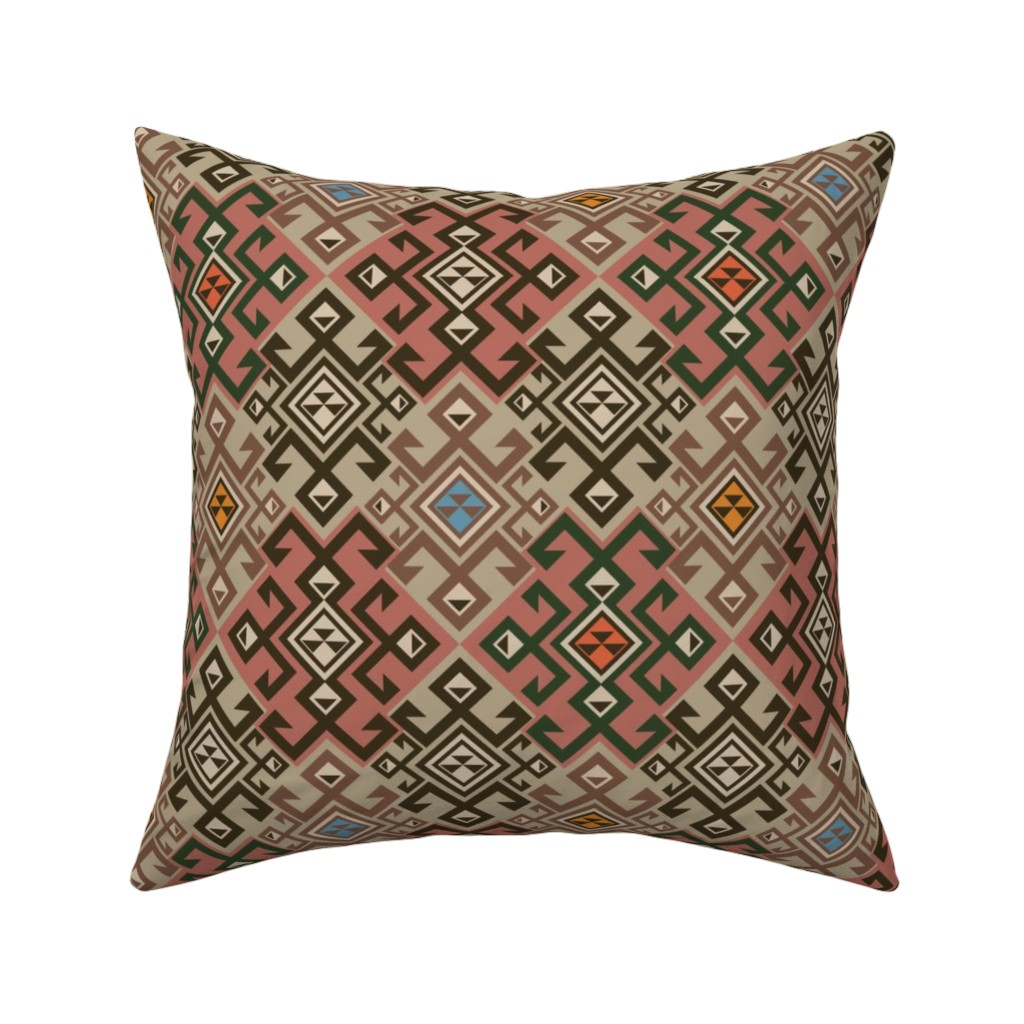 Catalan Throw Pillow featuring Kilim by minyanna