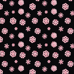 pink heart flakes 2