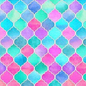 Bright Moroccan Morning - pink, purple, blue