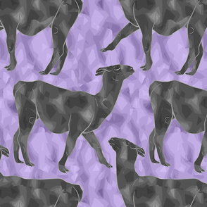 Moody Mod Llamas - pewter purple