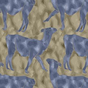 Moody Mod Llamas - slate earth