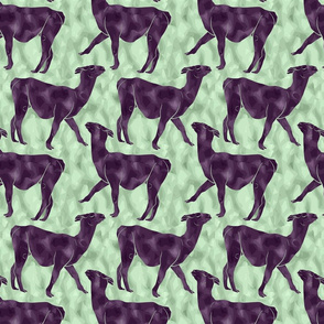 Small Moody Mod Llamas - plum mint