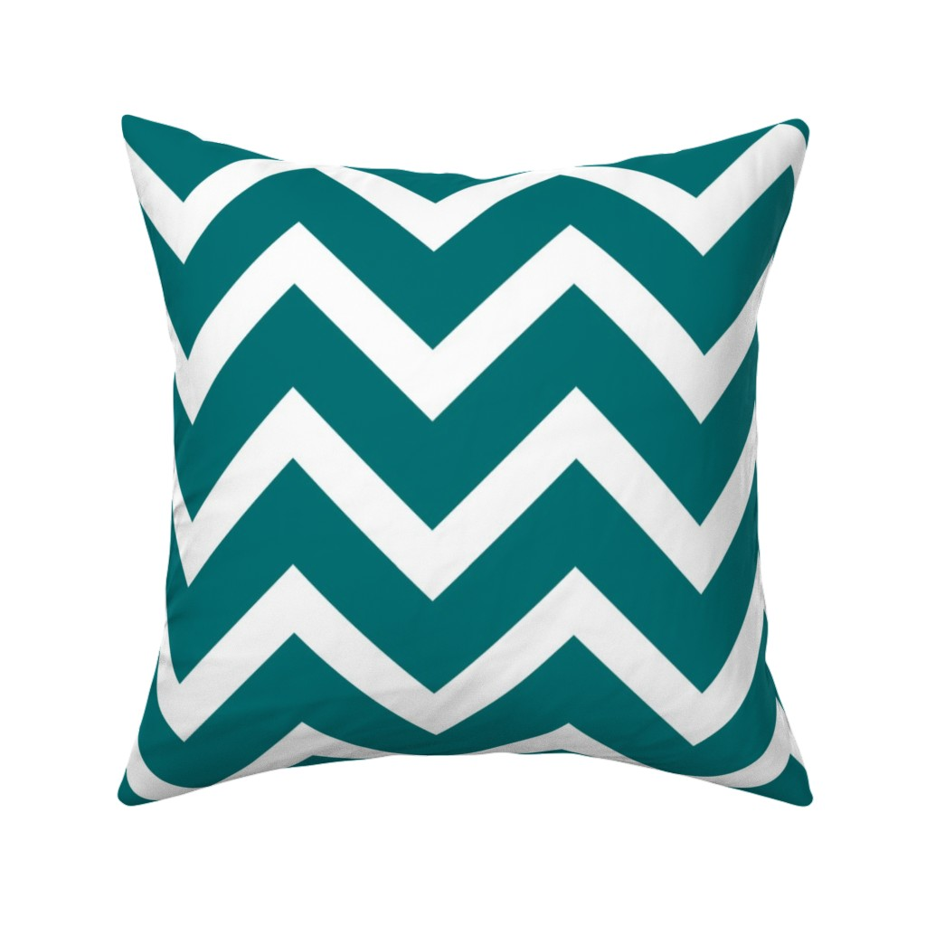 Catalan Throw Pillow featuring large teal chevron by amybethunephotography