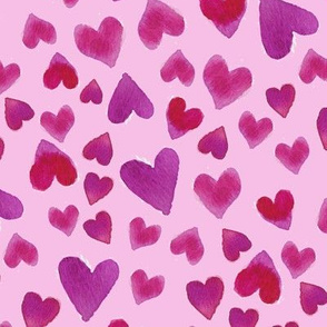 Valentines Day Love Hearts on Pink