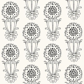 Dotted Floral_black and white