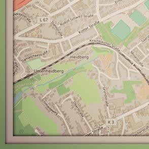 Solingen map, Germany yd