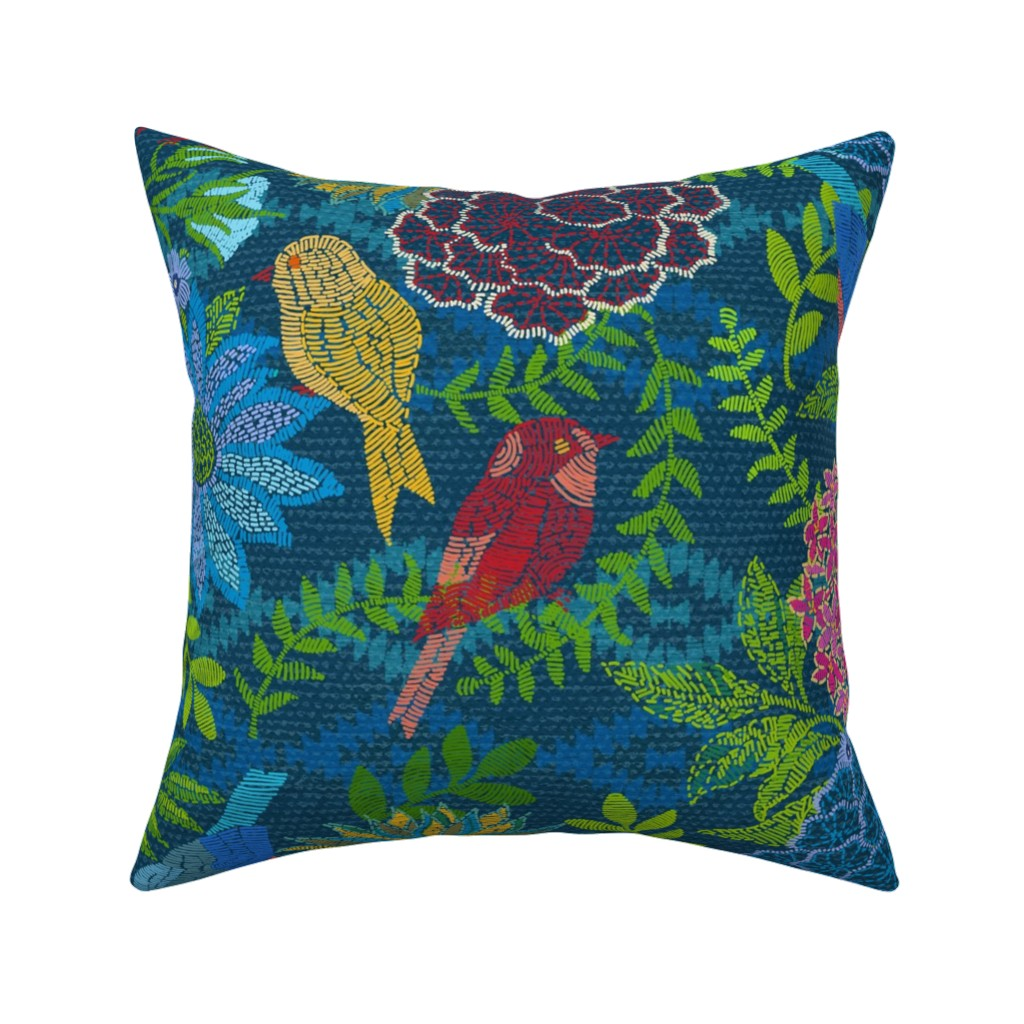 Catalan Throw Pillow featuring Kilim Garden Loom by honoluludesign