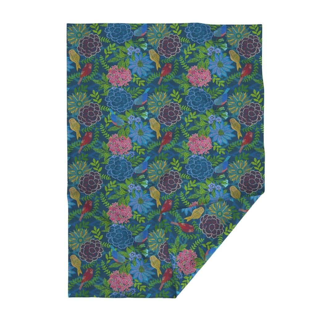 Lakenvelder Throw Blanket featuring Kilim Garden Loom by honoluludesign