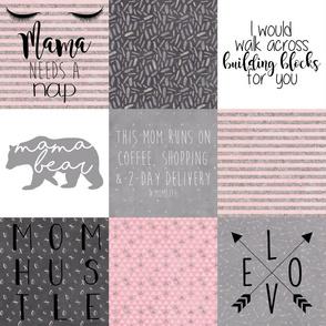 "6"" Custom Pink #MomLife"