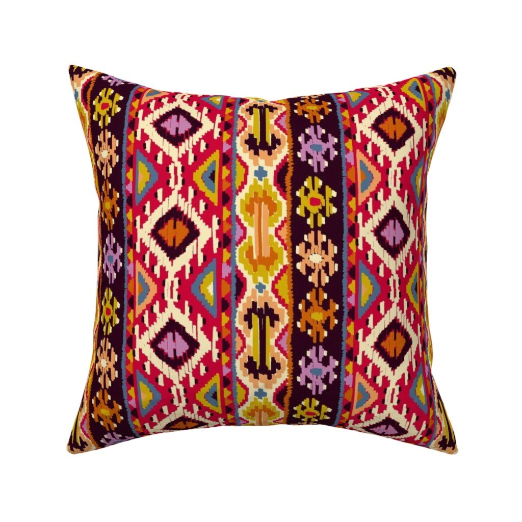 Catalan Throw Pillow featuring kilim1 by letizia_rossi_