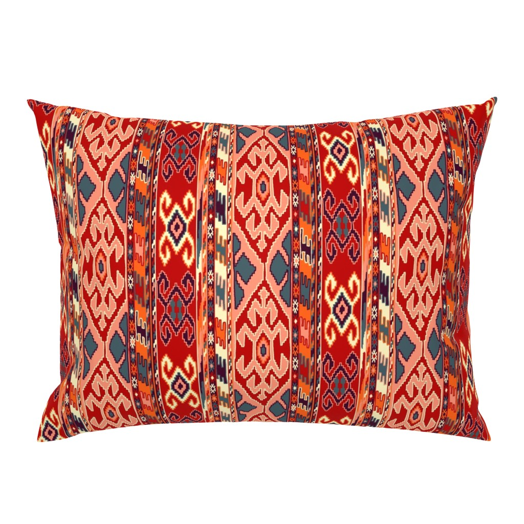 Campine Pillow Sham featuring kilimrug by letizia_rossi_