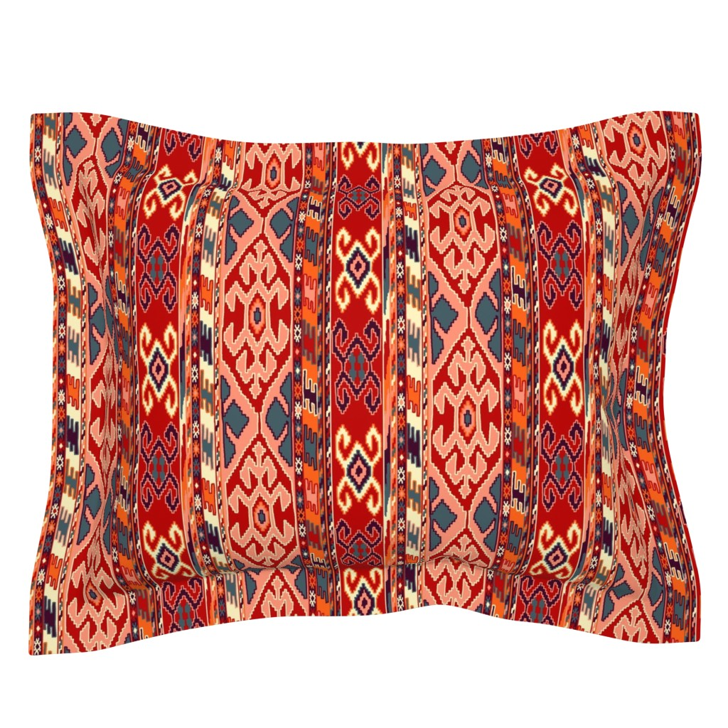 Sebright Pillow Sham featuring kilimrug by letizia_rossi_