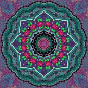 Mandala Project 608 | Cottage Rose Watercolor