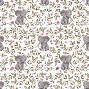 """3"""" Baby Elephant with Flowers/ NO CROWN  / Mix & Match"""