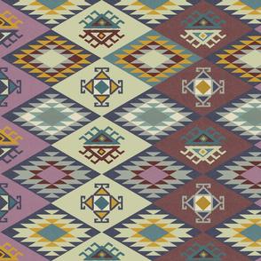Diamond Kilim - Purple - Texture