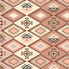 Diamond Kilim - Rose - Texture