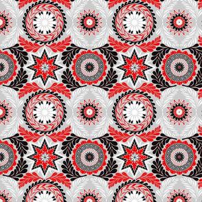 Greek Mandalas in Red and Black