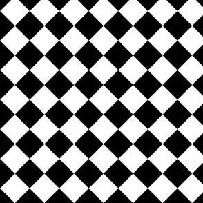 Wonderland Chessboard ~ Check ~ Black and White ~ Small